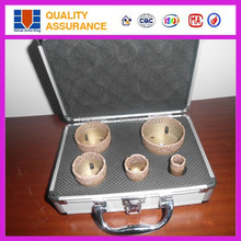 Core drill bit type and diamond material hole saw kit