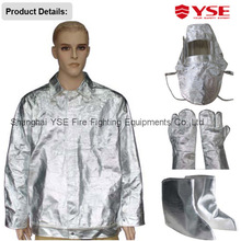fire fighting fireman entry aluminum foil suit with hood, gloves, shoe cover