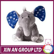 Super soft plush elephant with colourful ears