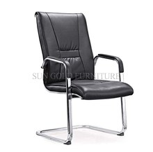 Black cheap commercial office without wheels director leather chair (SZ-OC149)