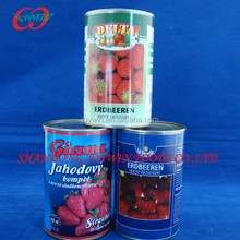 Best quality Canned strawberry in light syrup supplier from China(E120,E124,E129)