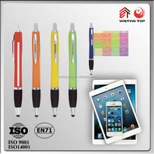 Advertising logo customized banner pen with touch stylus