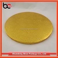 2 mm gold round cardboard cake circle/cake base