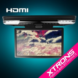 """15.6""""1080P Video HD Monitor Wide Screen Overhead DVD Player with HDMI Port"""