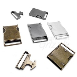 Metal side release buckles for webbing, 25mm