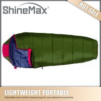 popular promotional easy carry mummy sleeping bag