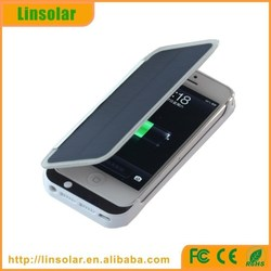 2015 new pu leather digits display protective 2800mAh wallet solar charger for iphone