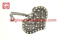 High quality zinc alloy Heart small Compact Mirror