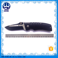 high quanlity black/red stainless steel folding pocket knife anodized black