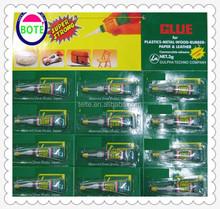 2015 new design hot selling 2 octyl cyanoacrylate with needle and 12pcs aluminium tube packing