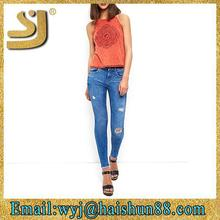 new design denim innovative design industrial cotton jeans ,fashion jeans china