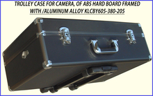 Trolley Hard Case Luggage for Camera, of ABS Hard Board Framed with /Aluminum Alloy KLCBY605-380-205