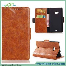 Wholesale Wallet Stand Leather Case for Nokia Lumia 535 Case Cover