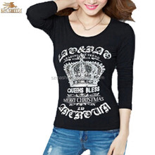 100% Ring Spun Cotton Remove Print t Shirt in Europe