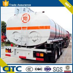 CITC fuel oil tanker semi trailer, heated asphalt bitumen 60 70 tanker semi trailer