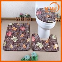 Ultra soft microfiber shower floor mats suites,bathroom accessories toilet seats, bath mat set