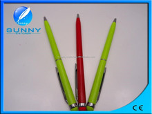 2015 best quality commercial multi-function metal twist ball pen