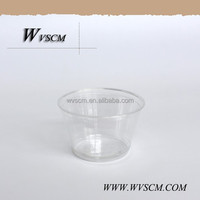 Hot Sale Raw Materials PET Dessert Cup for Disposable Plastic Cup