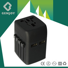 GENJOY 2015 popular made in china world plug adapters for foreign travel,electrical travel plug tours vadodara, A1322.00