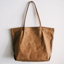 Factory price hot selling waxed canvas tote bag
