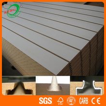 Melamine Slatwall MDF Panels/Slatwall MDF For Decoration