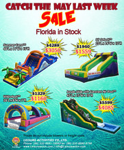 Hot Sale Florida And China Stock Discount Inflatable Games May Specials Commercial Inflatable inflatable water slide clearance