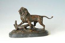 León de bronce esculturas TPAL-156 estatuas de leones venta