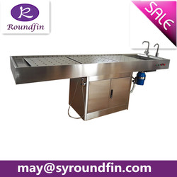 High quality China supplier 304 stainless steel autopsy table dissecting table