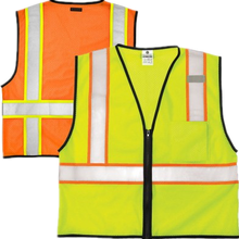 Two tones Industrial high visibility reflective safety vest mesh safety equipment