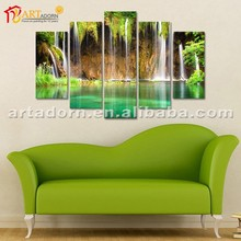 Acrylic canvas waterfall landscape oil painting for home