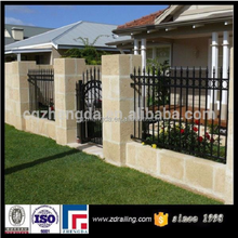 hot sale used wrought iron fence panels, wrought iron fence ornaments,decorative fence for house