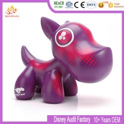 plastic blank vinyl cute pet dog toy for kids