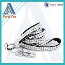 Fashion design crystal id card holder acrylic rhinestone lanyard