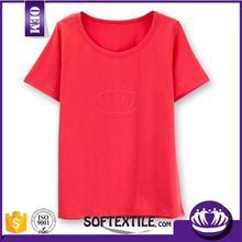 New fashional wholesale women's cotton v-neck t shirt