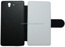 Wholesale Popular best quality Sublimation flip leather wallet phone case for Sony Z