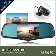 Dual DVR Camera Rear View Mirror Monitor Built-in Bluetooth & GPS Navigator