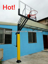 2013 New Design removable Basketball Stand With Glass Basketball Backboard