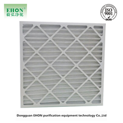 dust filtration parts/panel furance filters/cardboard disposable pleated filter
