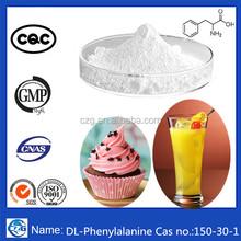 GMP Food additives Cas no.:150-30-1 99% DL-beta-Phenylalanine/DL-Phenylalanine