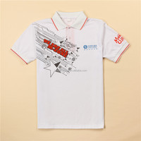 Customized White combed cotton jersey polo t-shirt,230gram