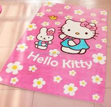 Hello kitty polyester carpet for children room