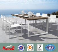 Rectangular aluminum teak wood pool table