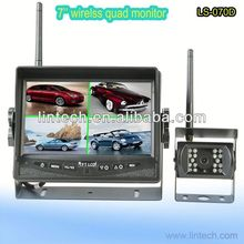 2013 the high quality waterproof 7'' wireless car wireless reversing camera with rearview mirror for truck