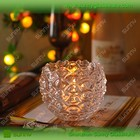 sunny padrão diferente personalizado suporte de vela de vidro