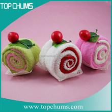 2014 New design promotion gift of wedding cake towel