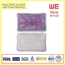 Gel Cooling Beads Hot Cold Pack with plush backing