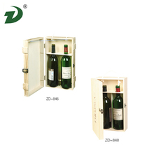 wholesale unfinished single bottle pine wine wooden box packaging