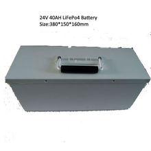 Hot sales 24V 40AH LiFePo4 battery pack for AGV