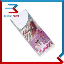 PP plastic poly slider pencil box button closure