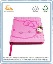OEM Products Cartoon Hard Cover Pink Lock Diary with key